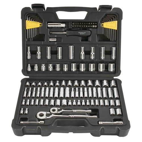 "Stanley 123-Piece 1/4"" and 3/8"" Drive SAE Socket Set, STMT71652"