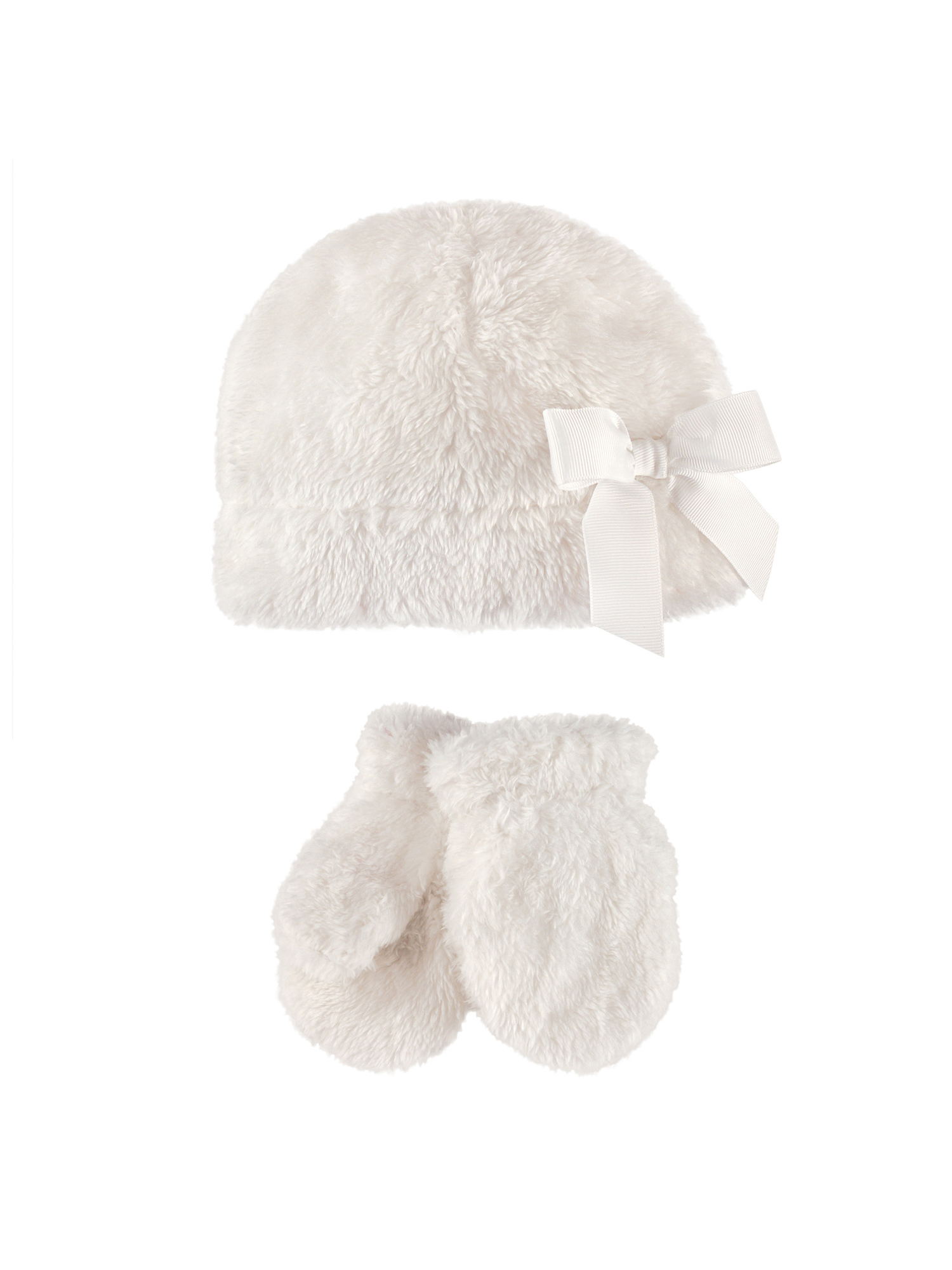 Girl Sherpa Hat & Mittens 2pc Set