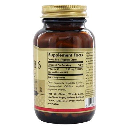 Best Solgar Vitamin B6 250 mg - 100 Vegetable Capsules deal