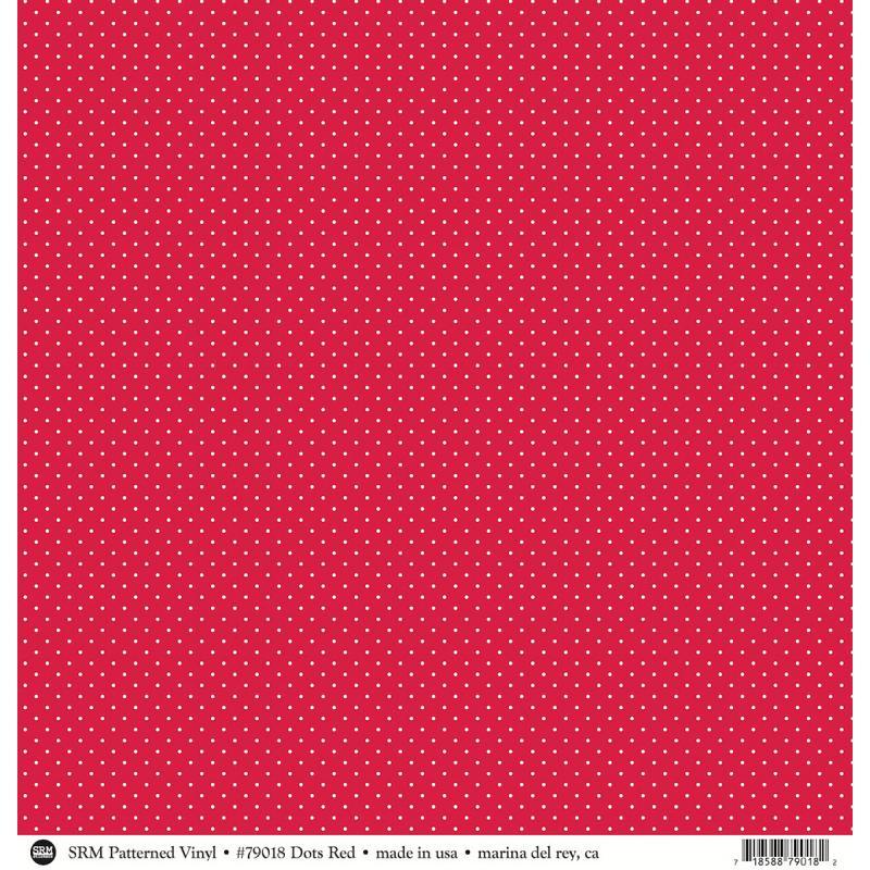 """Srm Patterned Vinyl Matte 12""""x12"""" 10/pkg-dots Red"""
