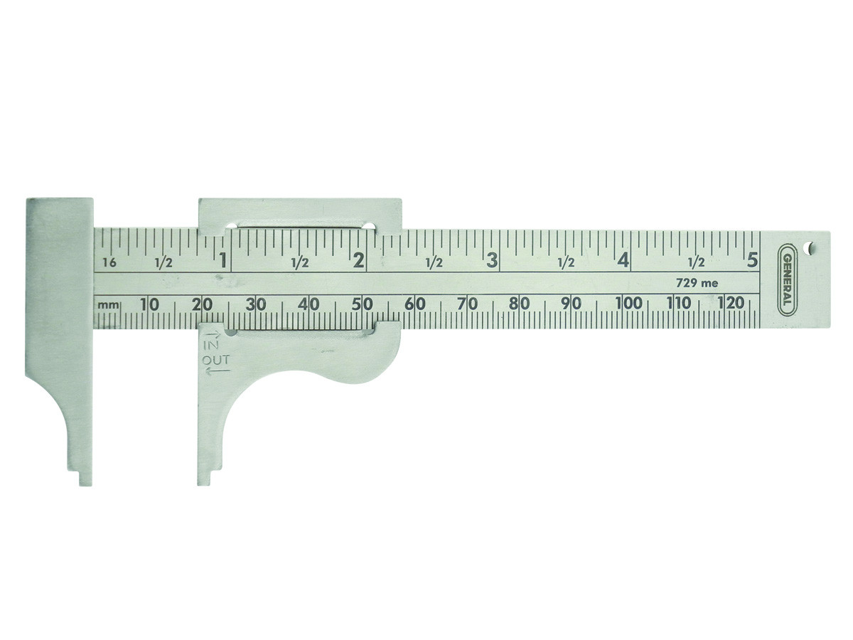 New Precision Made SLIDING BUTTON GAUGE Measuring MM /& Inches-Free Ship