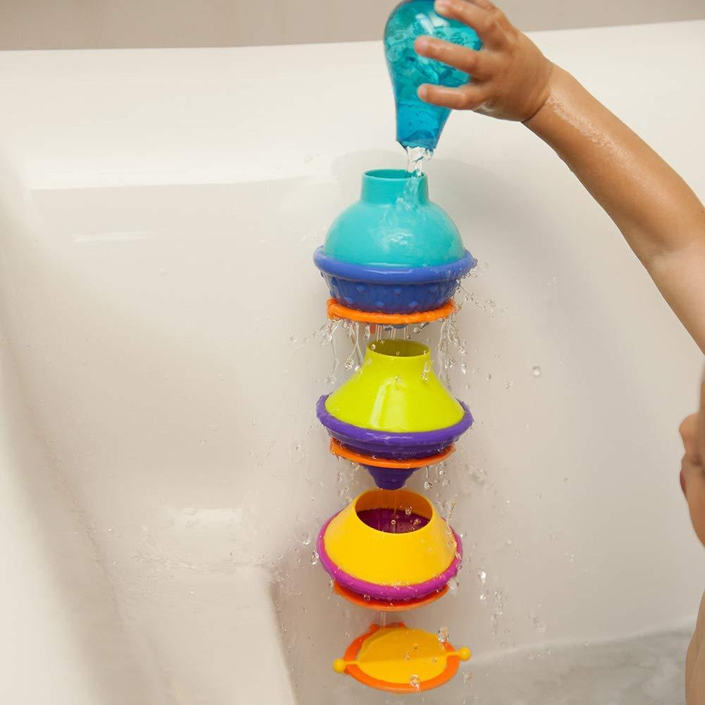 DripDrip Bath Toy, Set of 3 unique cups that drip bathwater each in a different way; Cups sit neatly inside... by Fat Brain Toys