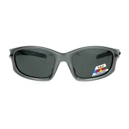 d08636a7926 Mens TAC Polarized Lens Aerodynamic Warp Sport Performance Plastic  Sunglasses Silver Black