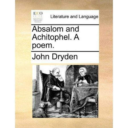 Absalom and Achitophel. a Poem. - image 1 de 1