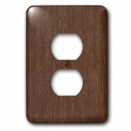 - 3dRose Dark Bamboo Wood - 2 Plug Outlet Cover (lsp_41591_6)