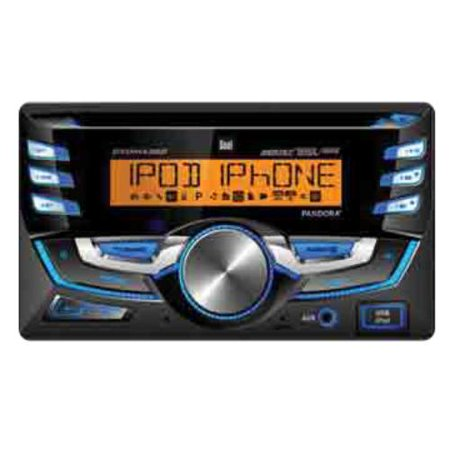 Dual Electronics DC525BI Double-DIN In-Dash CD AM/FM Receiver with  Bluetooth and Pandora Internet Radio