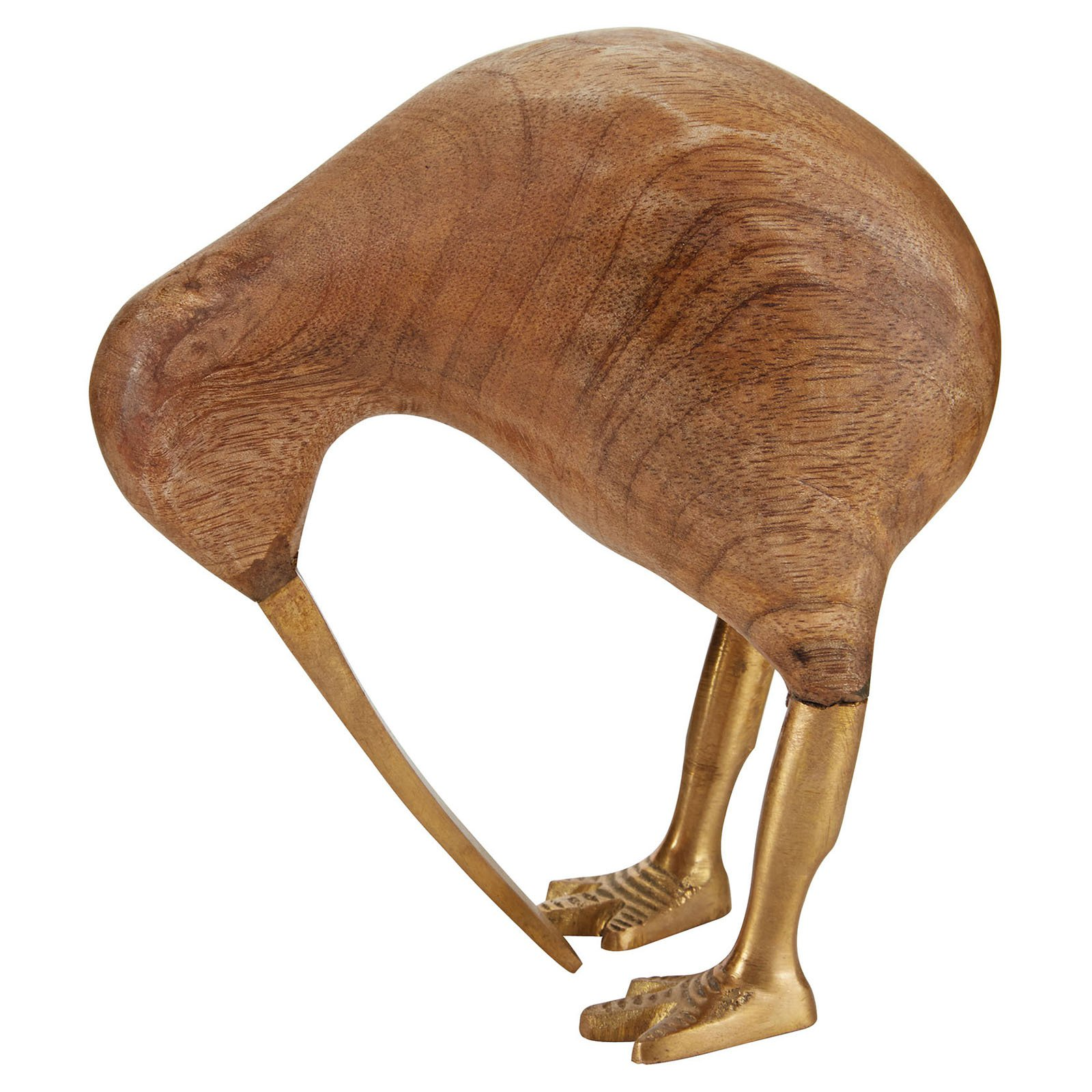 Dimond Home Wood & Brass Kiwi Sculpture