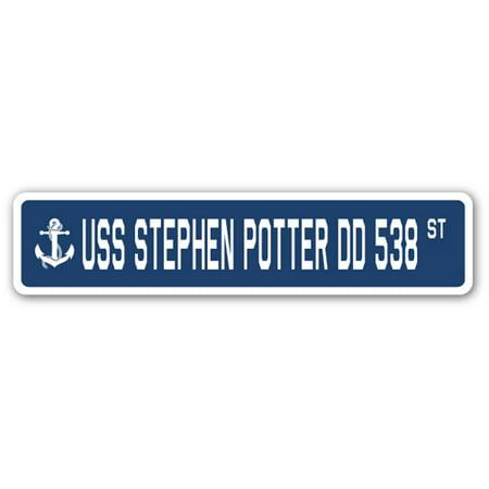 Plotter Sign (USS STEPHEN POTTER DD 538 Street Sign us navy ship veteran sailor)