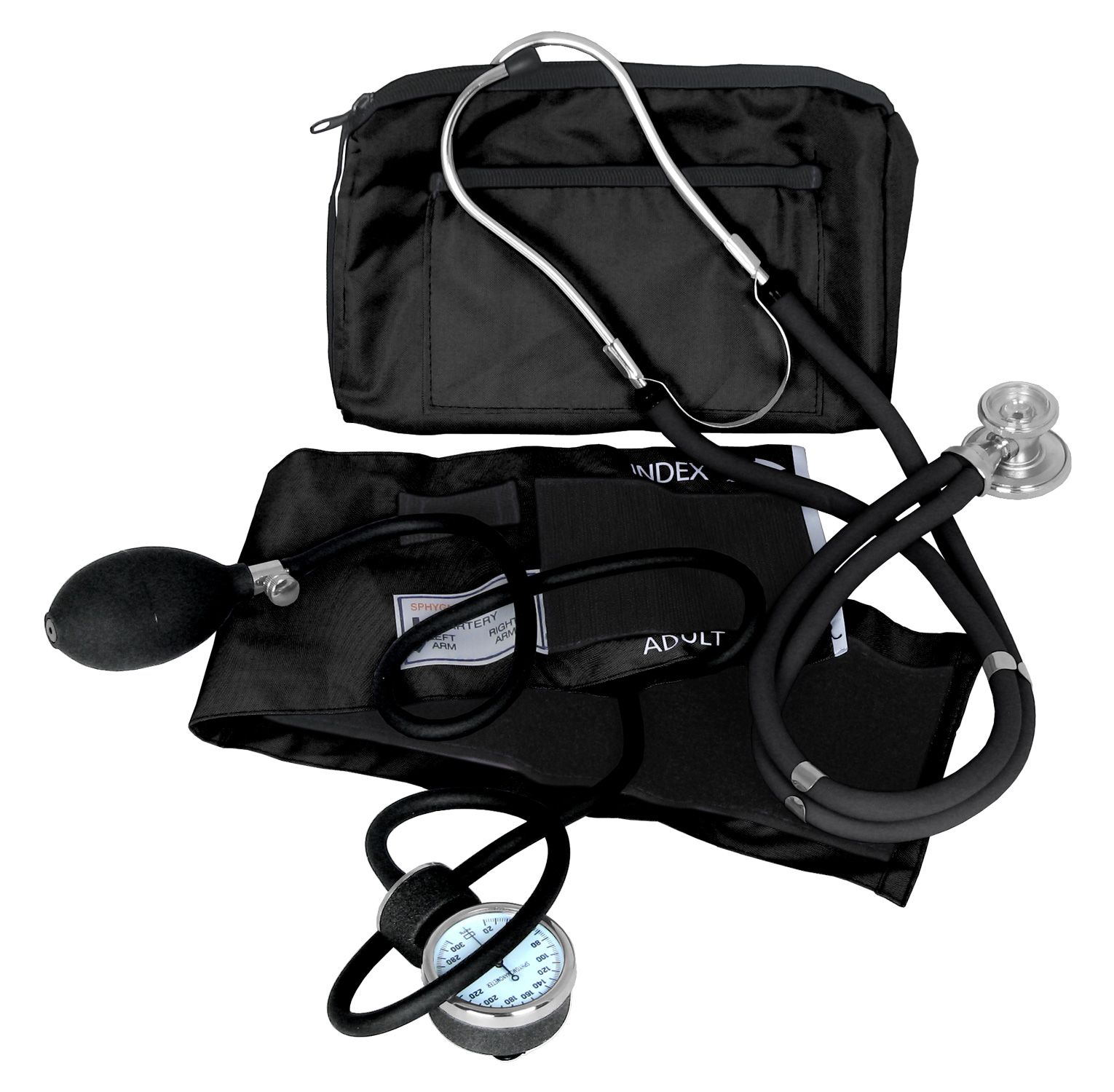 Dixie Ems Blood Pressure and Sprague Stethoscope Kit (BLACK)