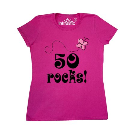 50th Birthday 50 Rocks Gift Women's T-Shirt (50 Birthday Gifts For Women)
