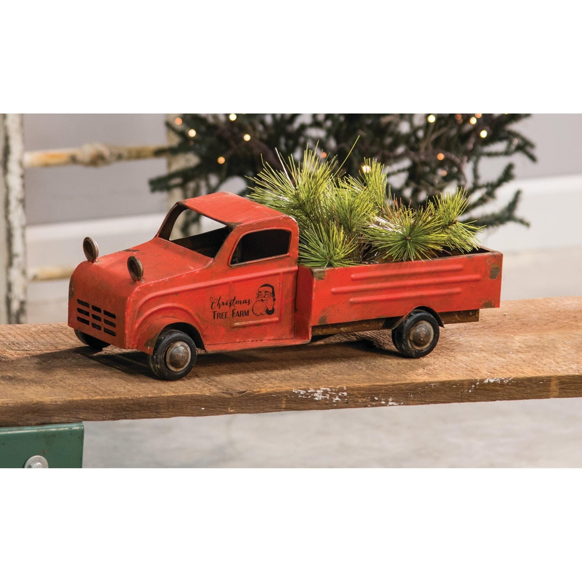 Big Fortune Vintage Red Truck Christmas Decoration Walmart Com Walmart Com
