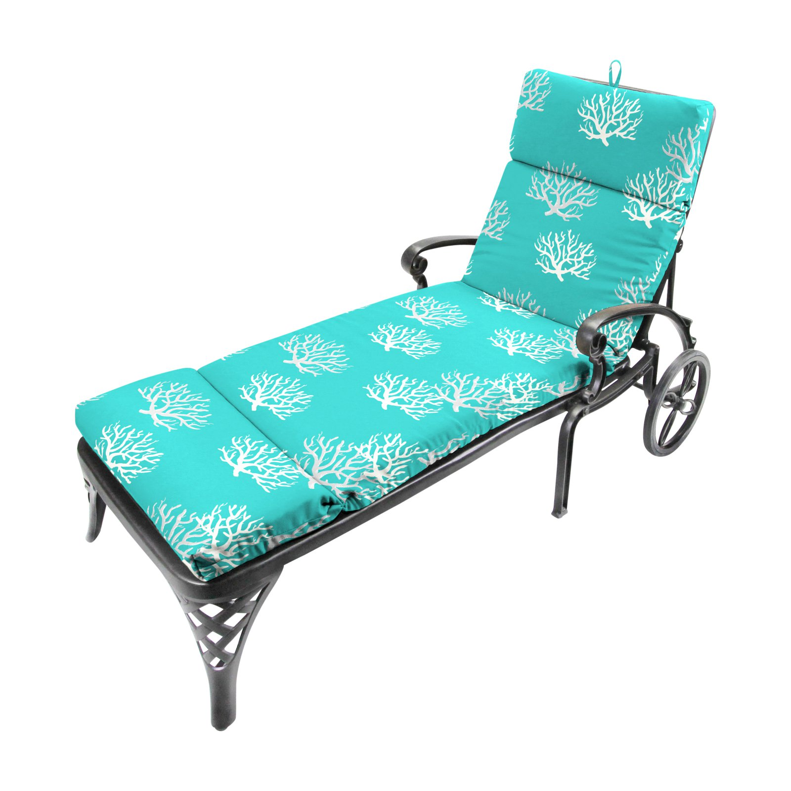 Jordan Manufacturing 72 in. Outdoor Chaise Cushion - Isadella Ocean