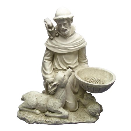 Design Toscano St. Francis Feeds the Animals Garden - St Francis Statue