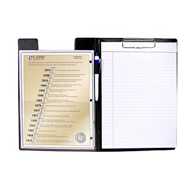 C LINE CLIPBOARD FOLDER BLACK SCBCLI30601-27 (pack of 27)