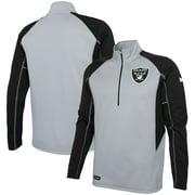 Las Vegas Raiders Combine Authentic Two-a-Days Half-Zip Jacket - Silver