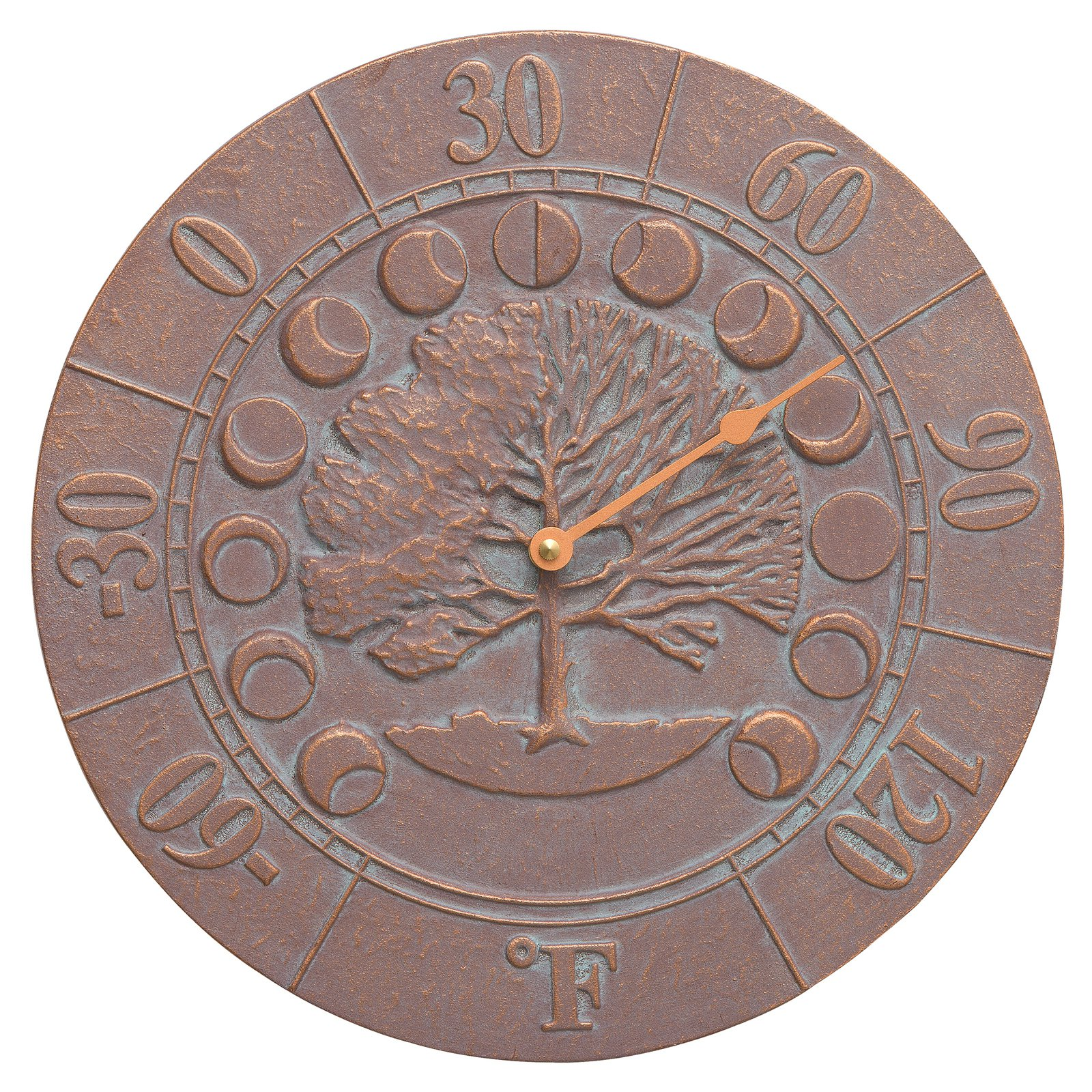 Whitehall Products Times and Seasons Thermometer - Copper Verdigris
