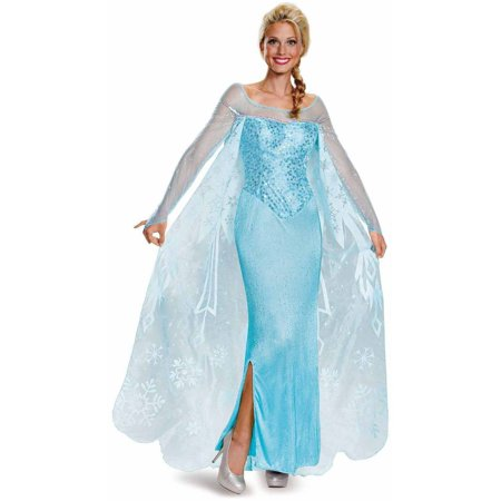 Frozen Elsa Prestige Women's Adult Halloween Costume - Elsa In Frozen Costume