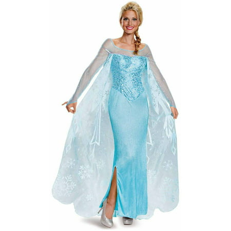 Frozen Elsa Prestige Women's Adult Halloween Costume - Adult Frozen Elsa Costume