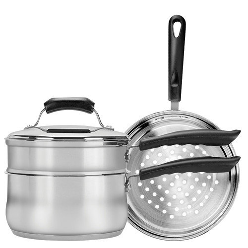 Range Kleen Basics 3-qt. Double Boiler and Steamer Set