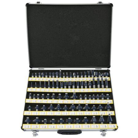 Neiko 10115A 80-Piece Tungsten Router Bit Set with Aluminum Case