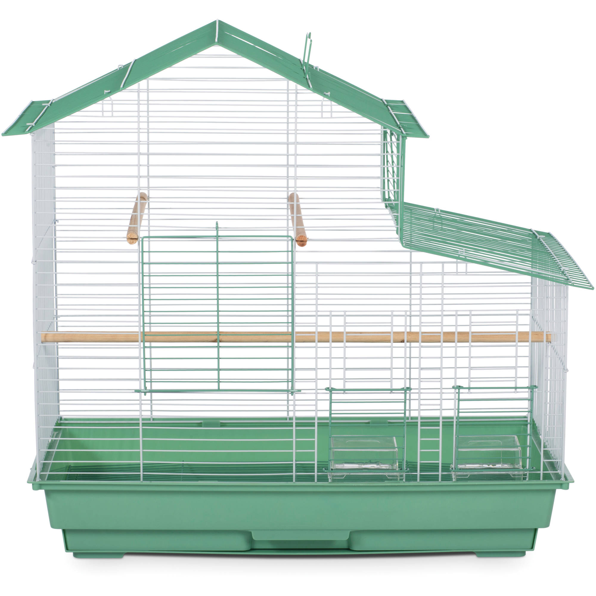 Prevue Pet Products House Style Small Bird Cage, Green, SP41615-2 by Prevue Hendryx