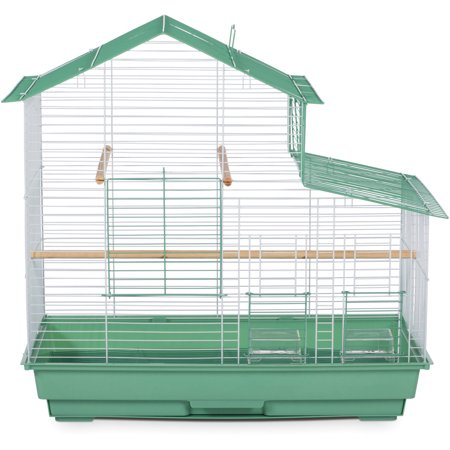 Prevue Pet Products House Style Small Bird Cage, Green,