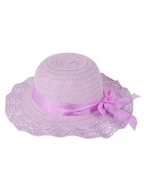 Little Girls Wide Brim Beach Floppy Sun Hat