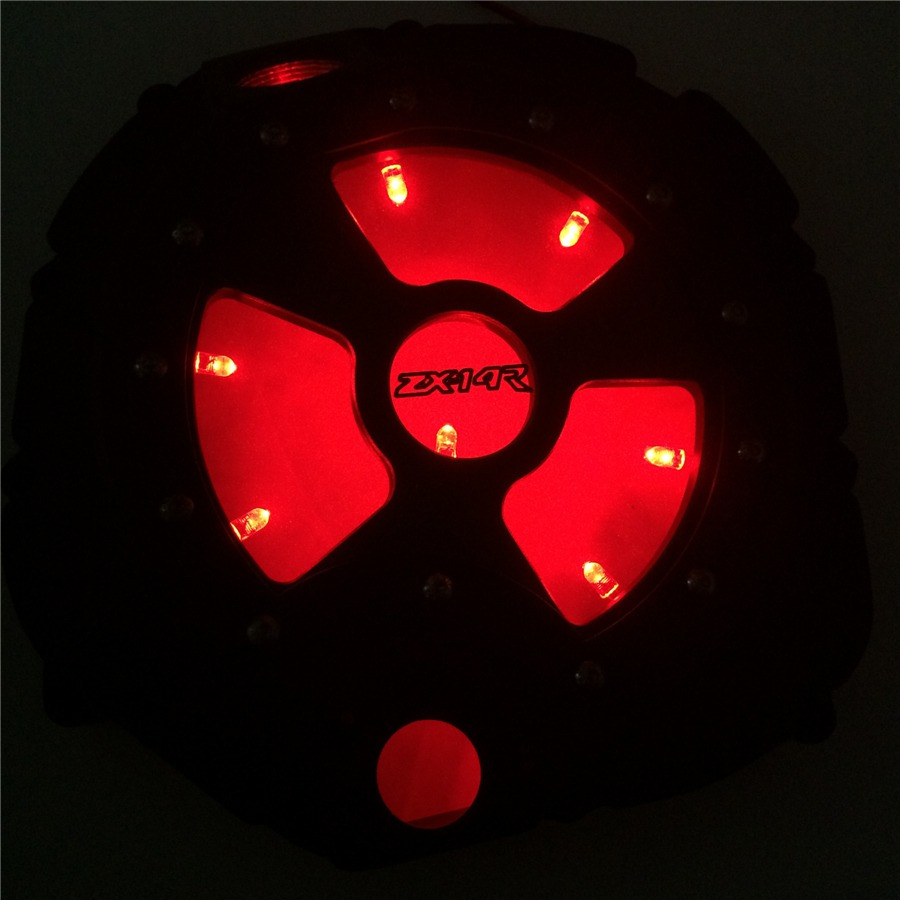 HTT RED LED Engine Clutch Cover See Through For Kawasaki ...