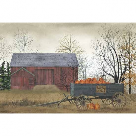 Pumpkin Wagon Poster Print by Billy Jacobs (18 x 12)