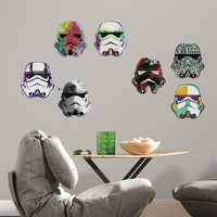 Deals on Star Wars Artistic Storm Trooper Heads Peel And Stick Wall Decals