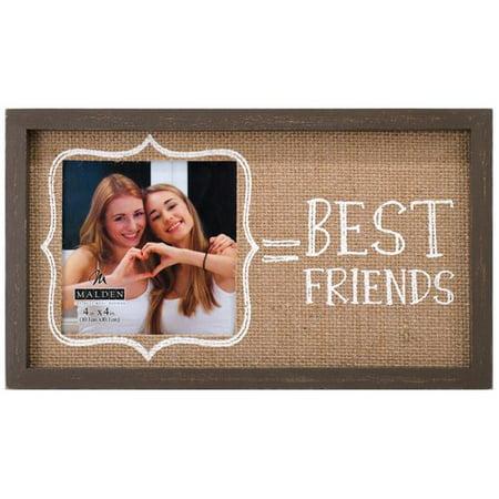 Malden Best Friends Burlap Picture Frame