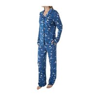 Disney Jasmine Long Sleeve Women's Coat Pajama Set, Jasmine Navy, Size: XS