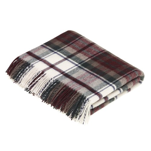 Gracie Oaks Brunell Merino Lambswool Dress Macduff Tartan Throw