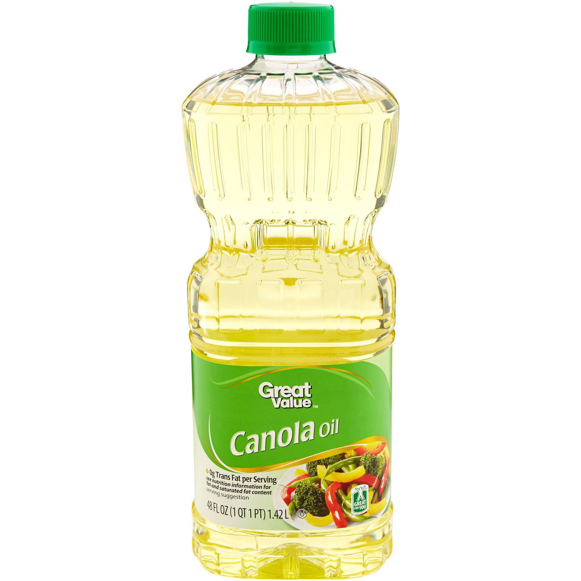 Great Value Canola Oil 48 Oz Walmart Com
