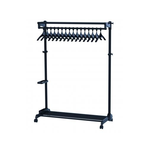 Stylish Mobile Garment Rack (along the wall) Black w/thef...