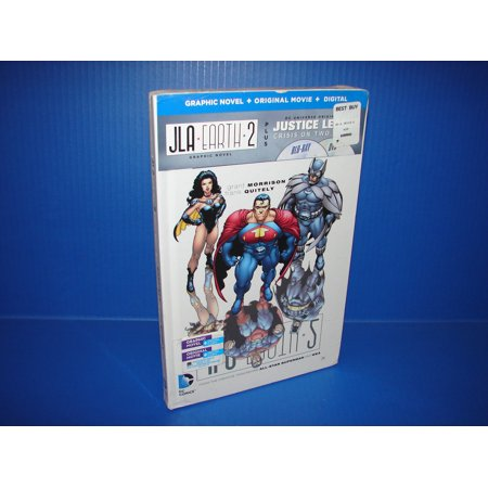 Justice League: Crisis on Two Earths (Blu Ray/DVD + Digital Copy) Collectible Graphic Novel Book