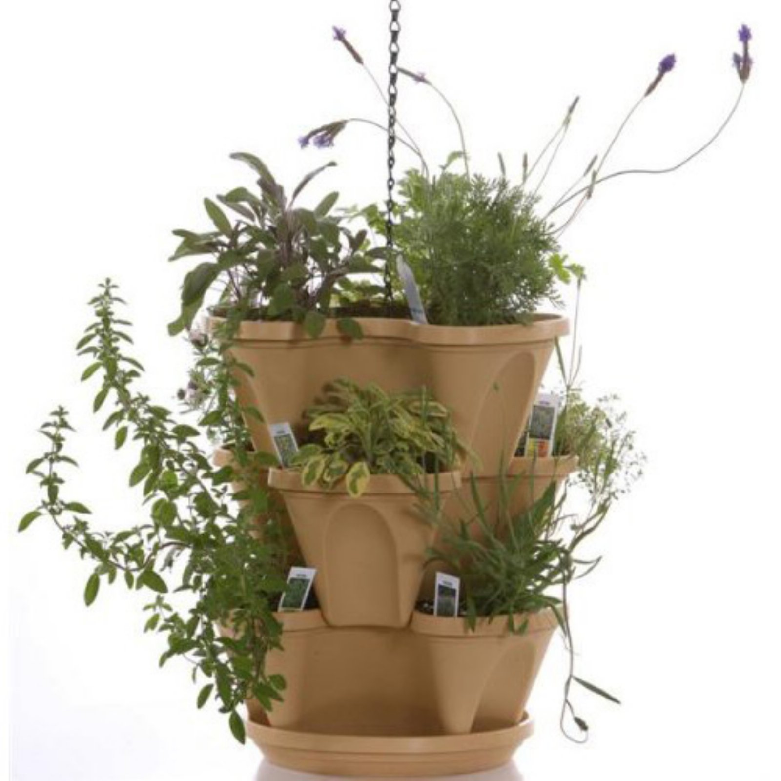 Natures Distributing 12 in. 3 Tier Stacking Planters