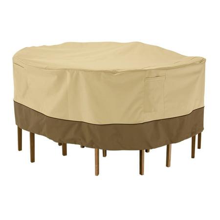 Classic Accessories Veranda Round Patio Table Chair Set Cover Durabl