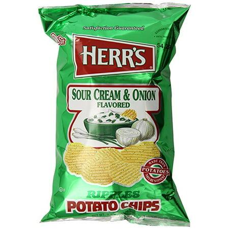 Sour Cream And Onion Potato Chips (Herr's Sour Cream & Onion Ripple Potato Chips - 9.5 Oz. (3 Bags))