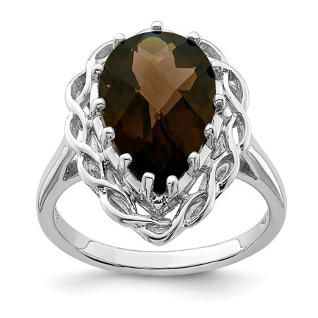 Roy Rose Jewelry Sterling Silver Smoky Quartz Ring