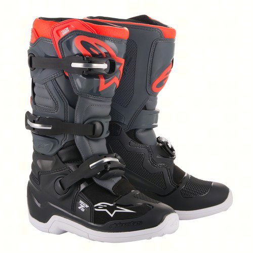 Alpinestars 2015017-1133-2  2015017-1133-2; Tech 7S Youth Boots Grey / Red Size 02