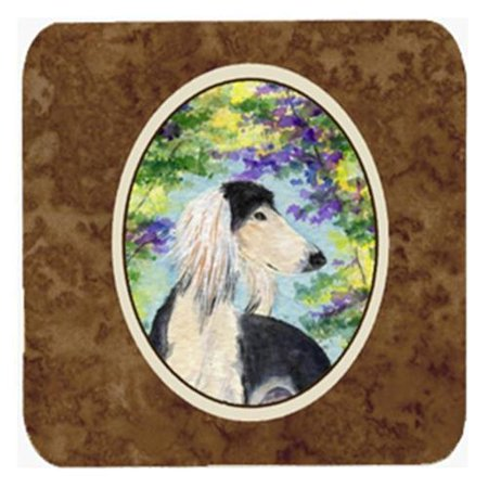 Set of 4 Saluki Foam Coasters