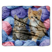 "American Heritage, ""Two Kittens with Wool"" Throw Blanket, 50?x 60?"