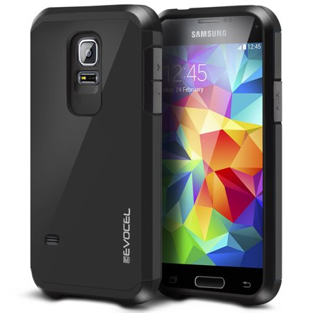 Galaxy S5 mini Case, Evocel [Lightweight] [Slim Profile] [Dual Layer] [Smooth Finish] [Raised Lip] Armure Series Phone Case for Samsung Galaxy S5 mini (SM-G800),