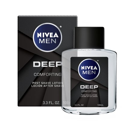 NIVEA Men DEEP Comforting Post Shave Lotion 3.3 oz. Bottle (Personal Shaving Lotion)