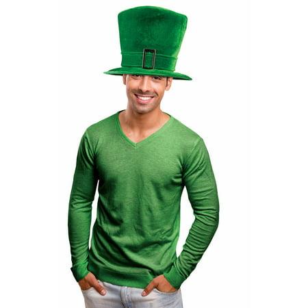 St. Patrick's Day Leprechaun Green Big Top Hat Buckle Adult Costume Accessory - Big Top Costumes