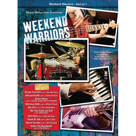 Music Minus One Weekend Warriors - Set List 1, Drums Music Minus One Series Softcover with CD Performed by
