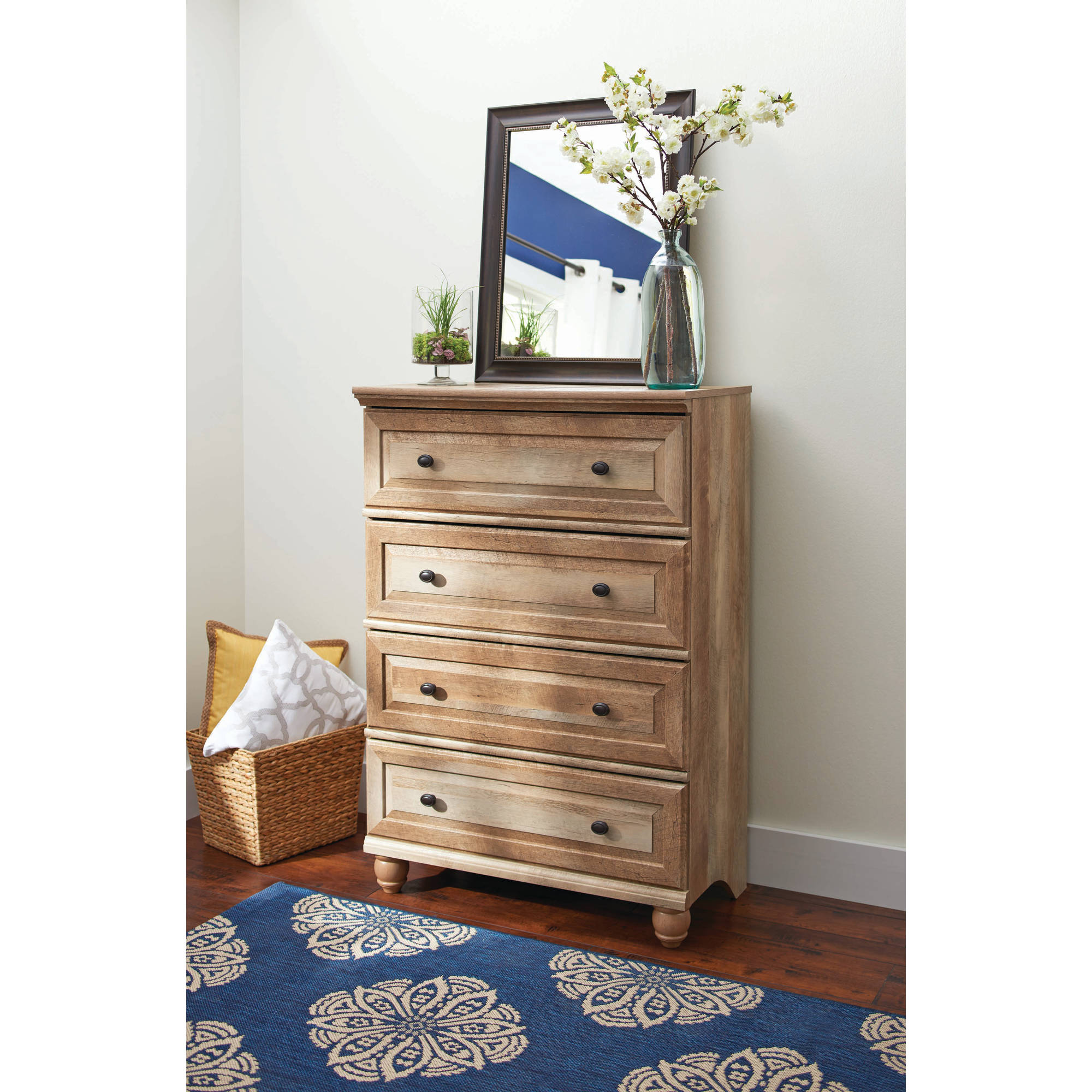 Better Homes and Gardens Crossmill 4-Drawer Dresser, Multiple ...