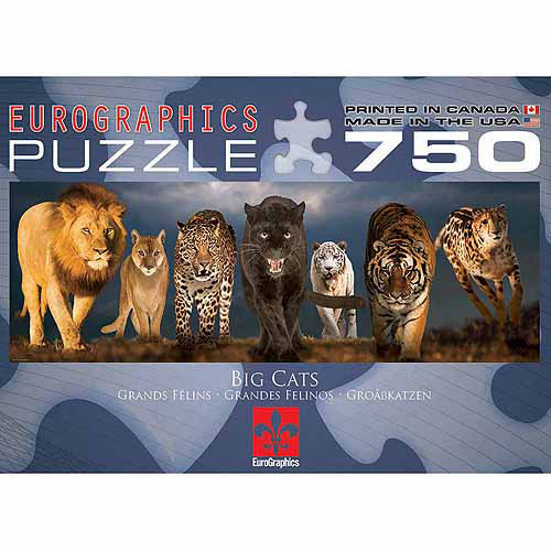 Generic EuroGraphics Big Cats Jigsaw Puzzle 750 - Piece Puzzle
