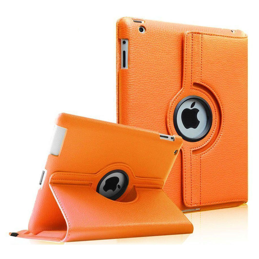 Fintie Apple iPad 2/3/4 Case - 360 Degree Rotating Stand Cover with Auto Wake/Sleep Feature, Orange